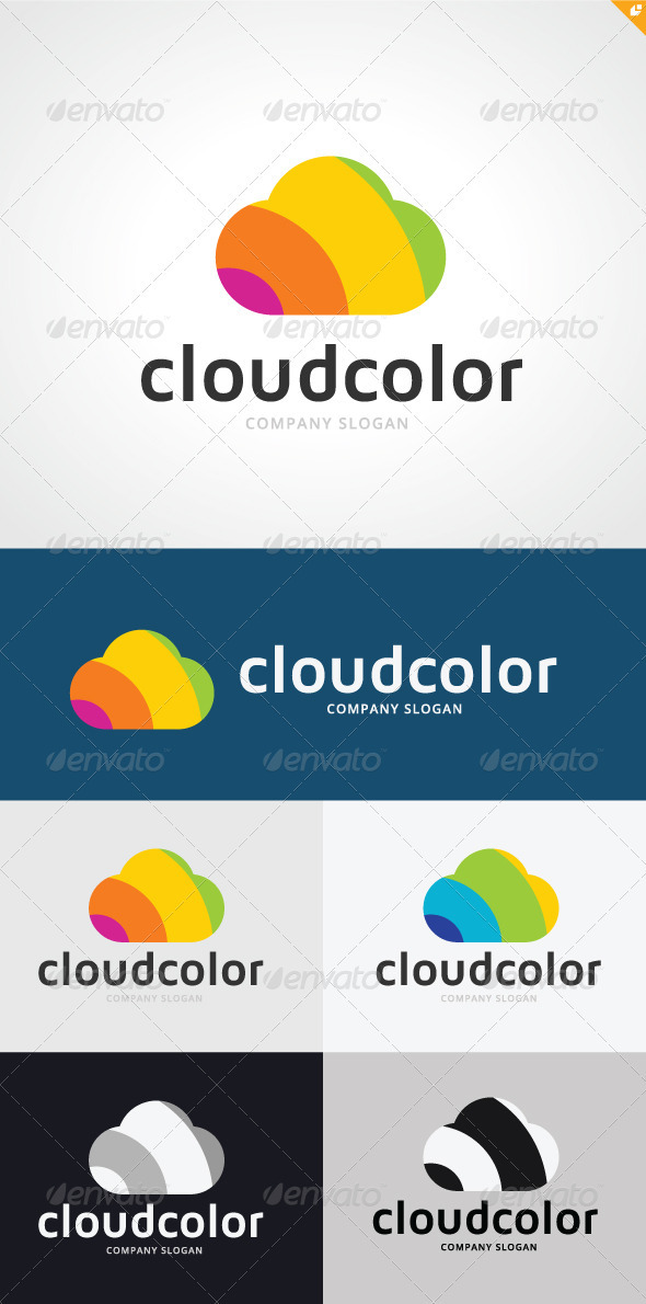 Cloud Color Logo - Nature Logo Templates