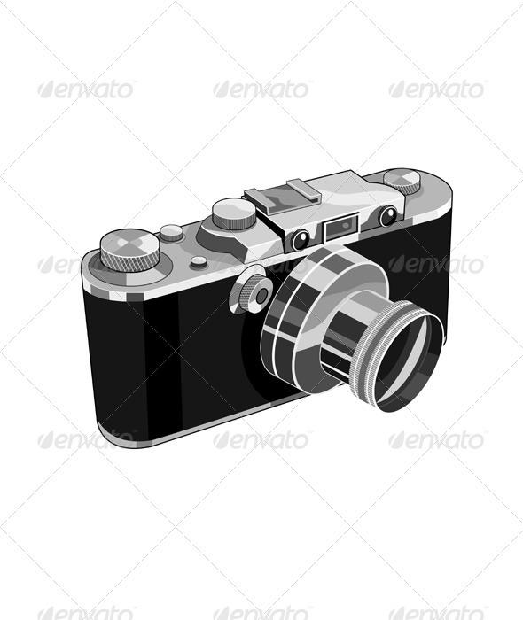 Vintage SLR Camera Retro - Technology Conceptual