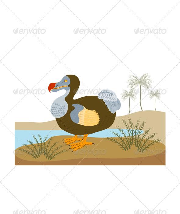 Dodo Bird Raphus Cucullatus Retro - Animals Characters