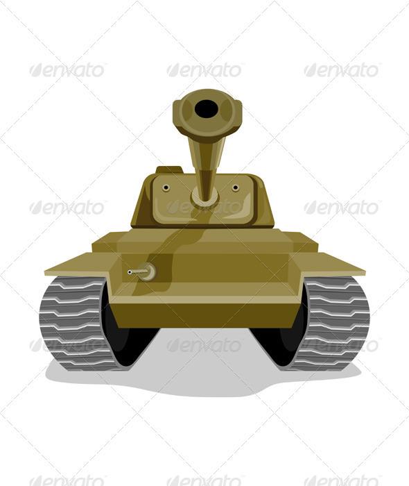 World War Two Battle Tank - Conceptual Vectors