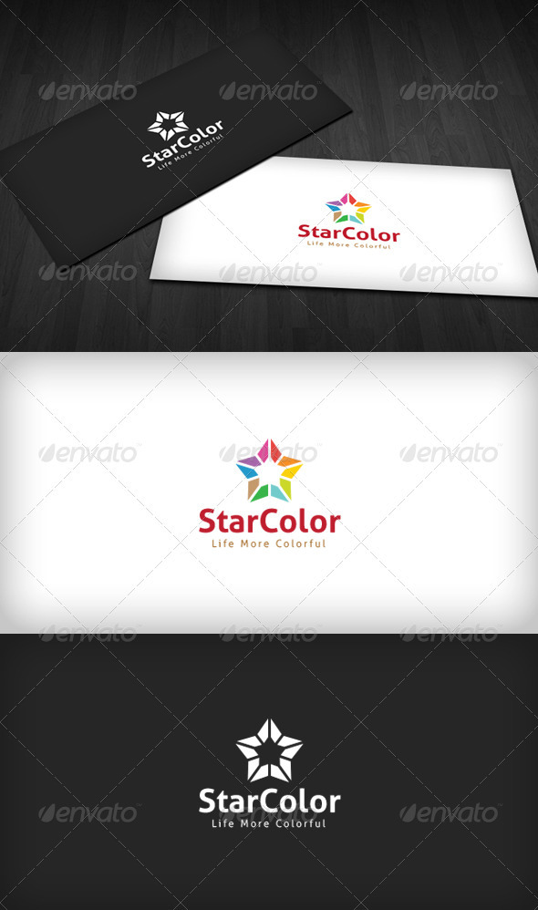 Star Color Logo - Vector Abstract