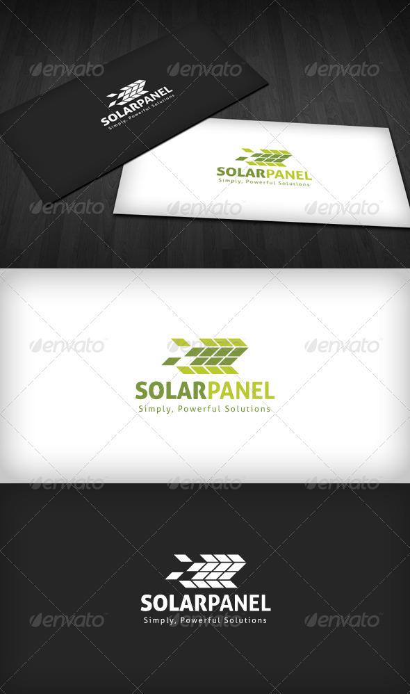 Solar Panel Logo - Vector Abstract