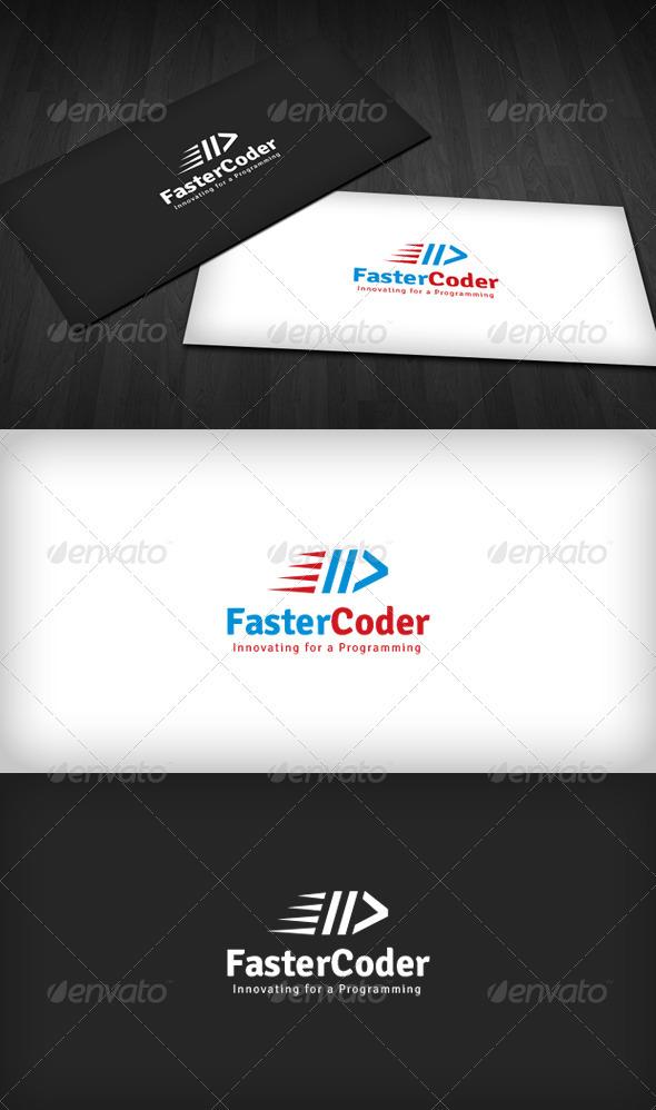 Faster Coder Logo - Symbols Logo Templates