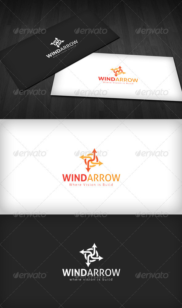Wind Arrow Logo - Vector Abstract