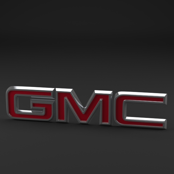 GMC Logo - 3DOcean Item for Sale