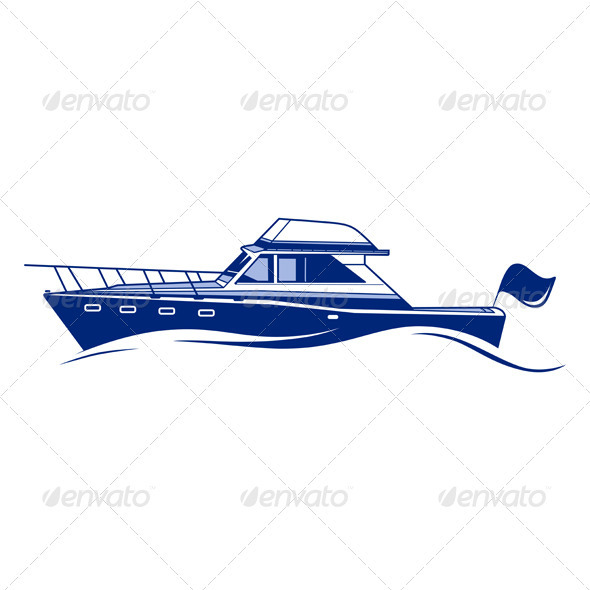 Luxury Speedboat Yacht - Sports/Activity Conceptual