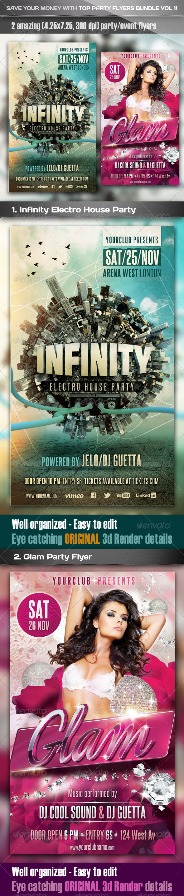 Top Party Flyer Bundle Vol11 - Clubs & Parties Events