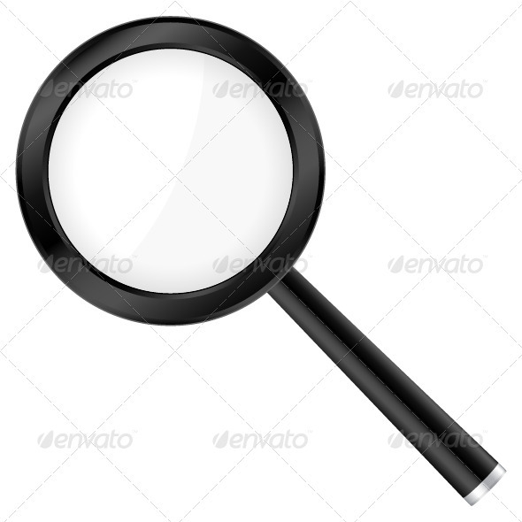Black magnifier - Objects Vectors