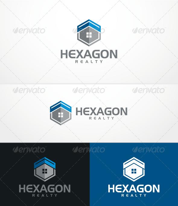 Hexagon Realty - Buildings Logo Templates