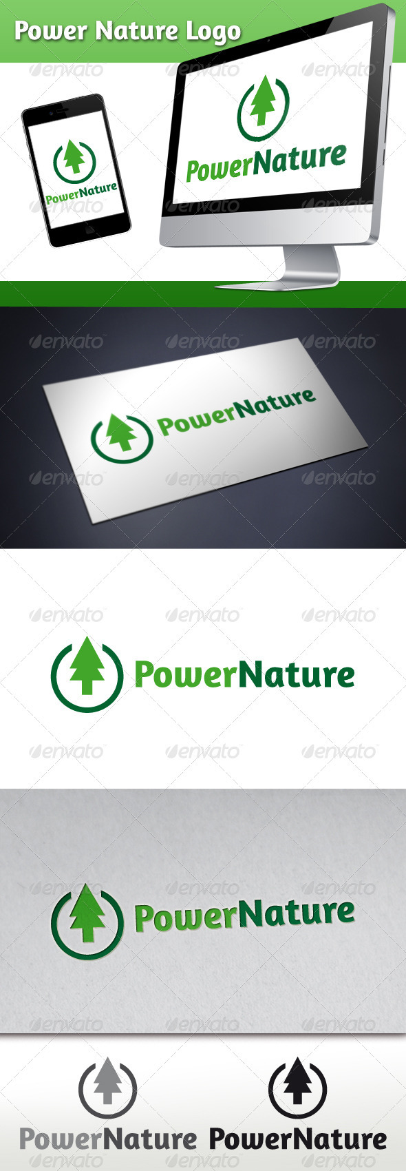 Power Nature Logo - Nature Logo Templates