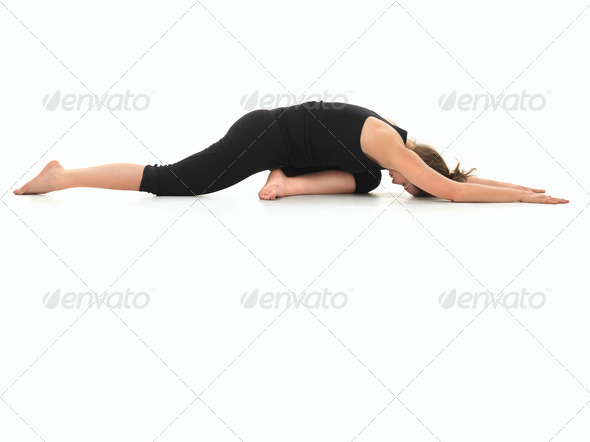 advanced yoga practice variation - Stock Photo - Images