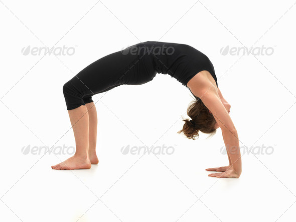 woman demonstrating yoga pose - Stock Photo - Images