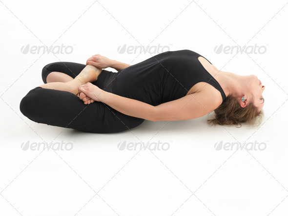 relaxion yoga posture - Stock Photo - Images