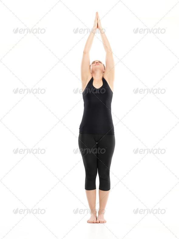 intermediate yoga pose - Stock Photo - Images