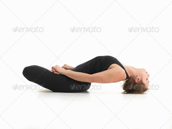 relaxation yoga posture - Stock Photo - Images