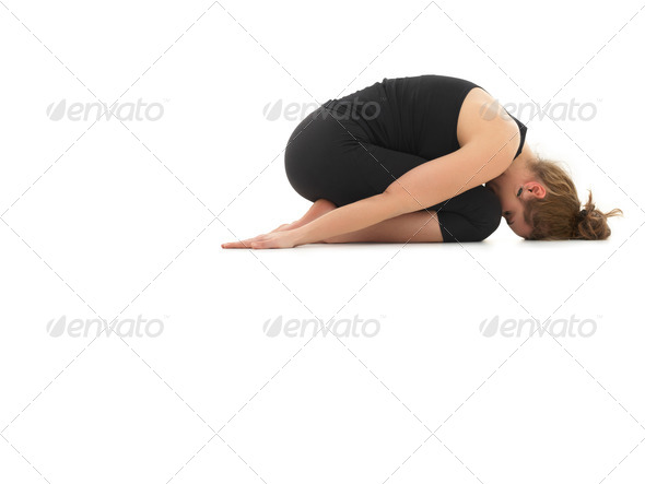 relaxing yoga posture - Stock Photo - Images