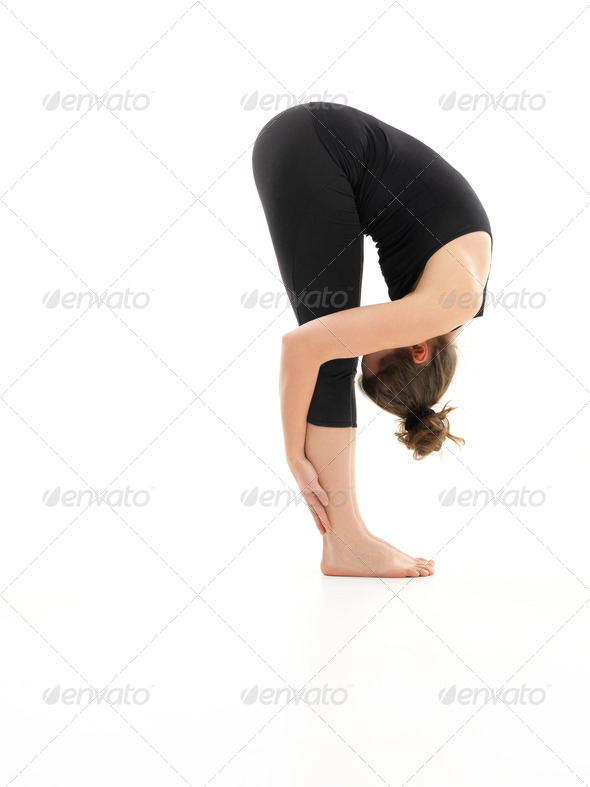 variation of begginer yoga posture - Stock Photo - Images