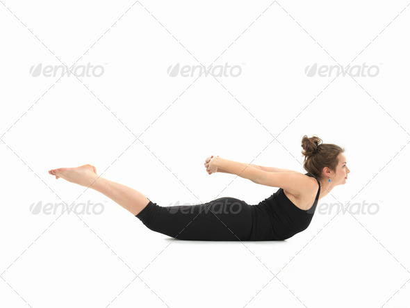 difficult yoga posture - Stock Photo - Images
