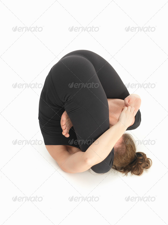 contorsion reversed yoga pose - Stock Photo - Images