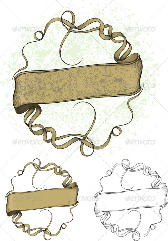 Curved ribbon forming a circle - Decorative Symbols Decorative