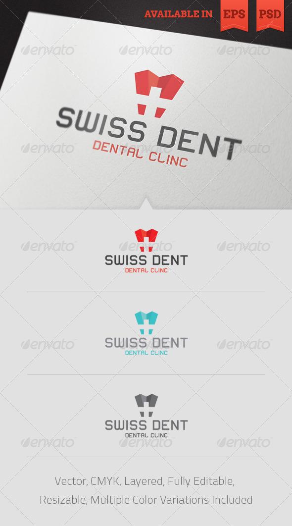 Swiss Dent Logo Template - Humans Logo Templates