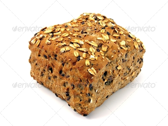 Wholemeal Brown Roll - Stock Photo - Images