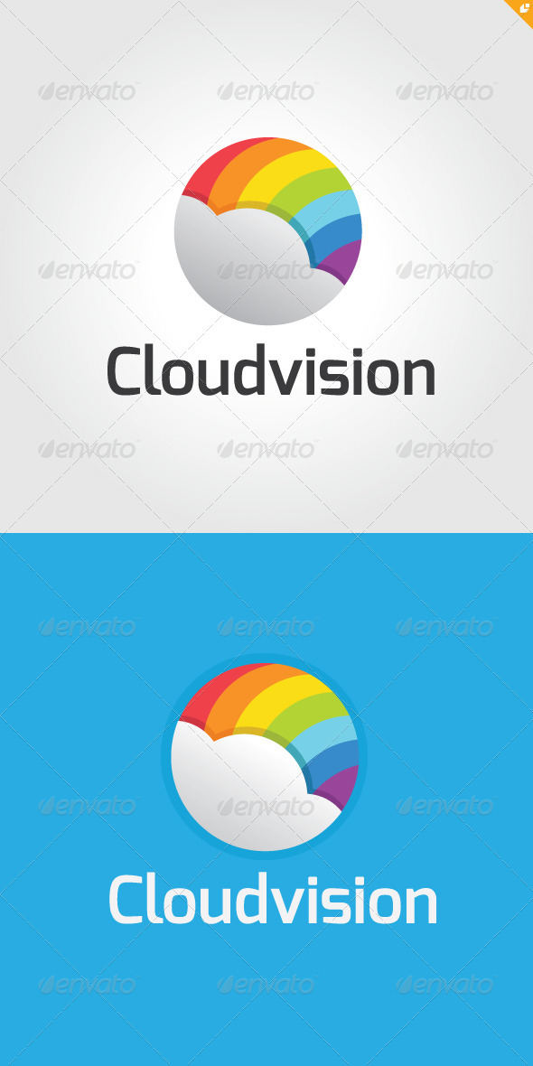 Cloud Vision Logo - Nature Logo Templates