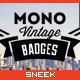 8 Mono Vintage Badges - GraphicRiver Item for Sale