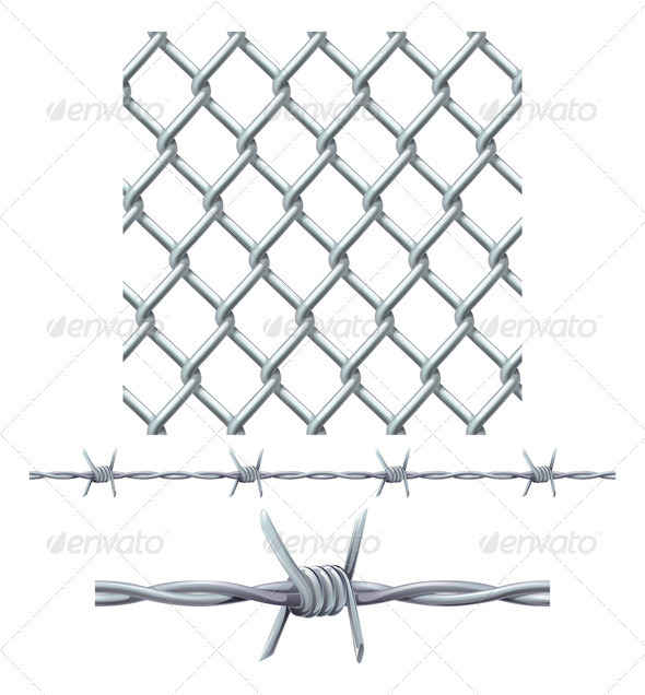 Seamless Tiling Fence and Barbed Wire - Miscellaneous Conceptual