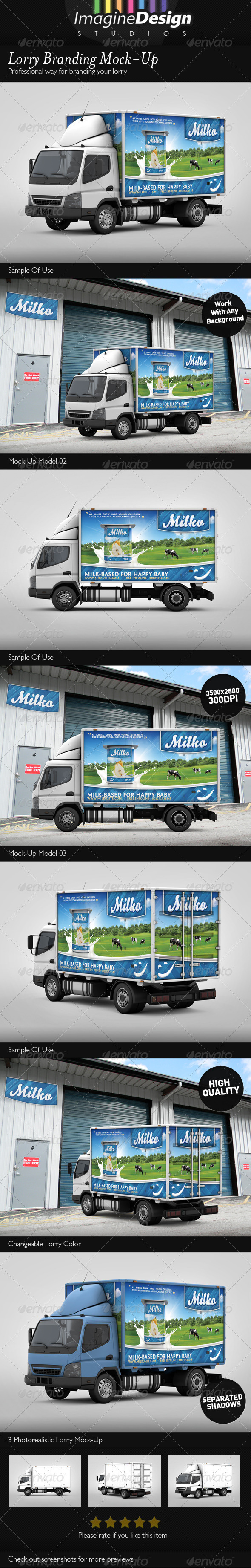 Lorry Branding Mock-Up - Vehicle Wraps Print