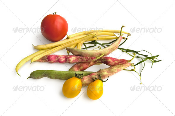 Beans with Tomatoes - Stock Photo - Images