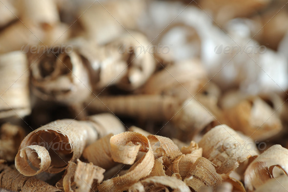 wood chips background - Stock Photo - Images