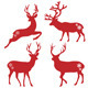 Christmas Deer Stags, Vector Set - GraphicRiver Item for Sale