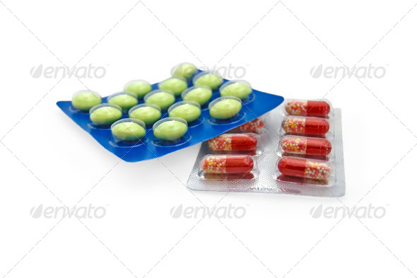 tablets and capsules_3 - Stock Photo - Images