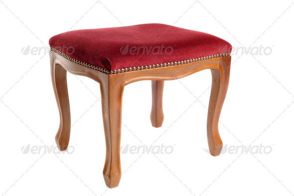 stool in velvet - Stock Photo - Images
