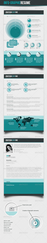 Info-graphic Resume V-II - Resumes Stationery