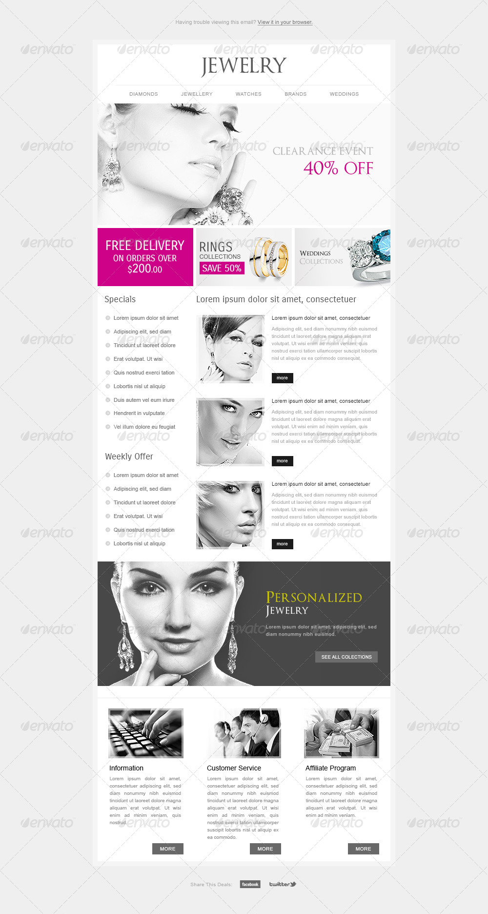 Minimal Clean Premium Email Template By HyperPix GraphicRiver - Minimal email template