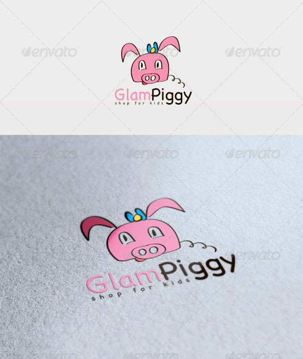 Glam Piggy Logo - Animals Logo Templates