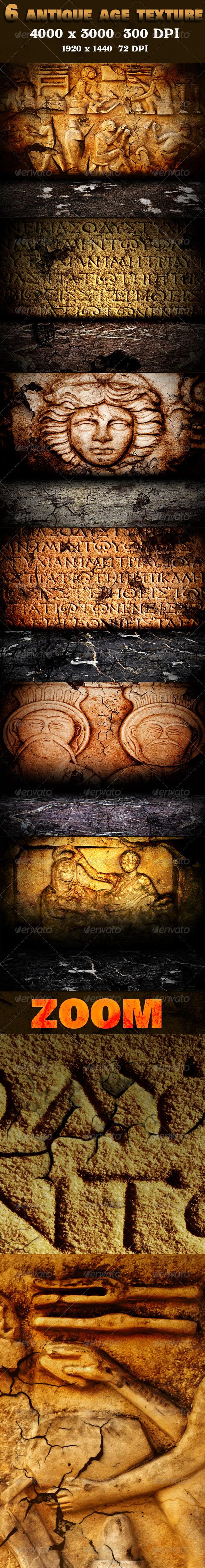 6 Antique Age Texture Pack - Stone Textures
