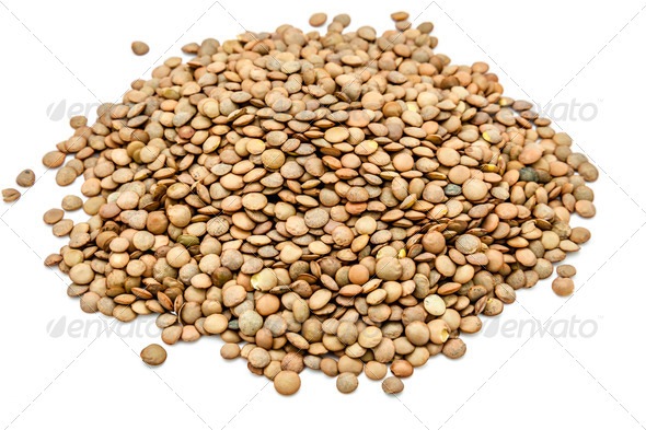 Green lentils - Stock Photo - Images