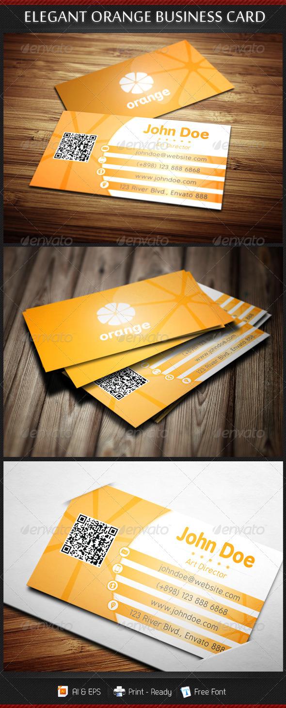 Elegant Orange Business Card Template - Creative Business Cards