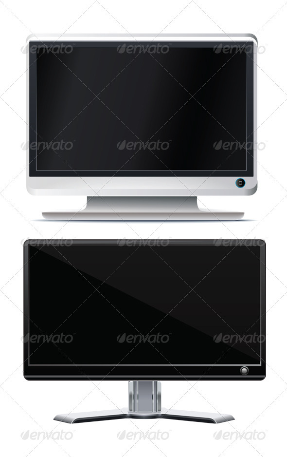 LCD Monitor With Two Style - Computers Technology