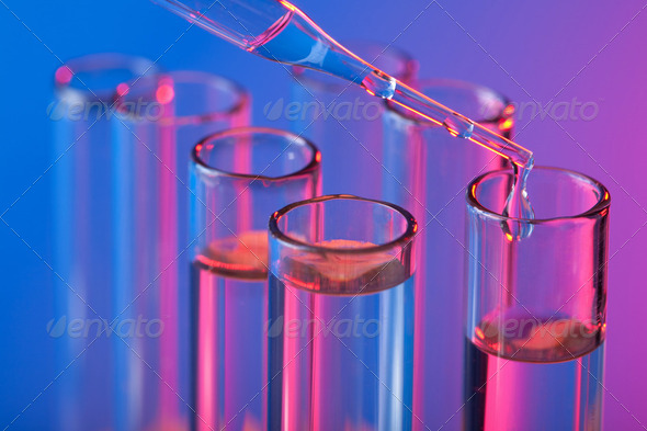test tubes and pipette - Stock Photo - Images
