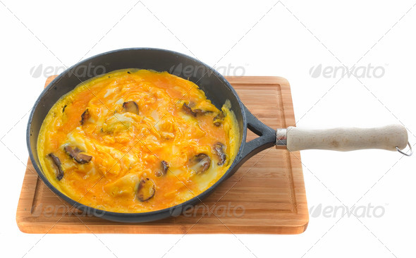 mushrooms omelet - Stock Photo - Images