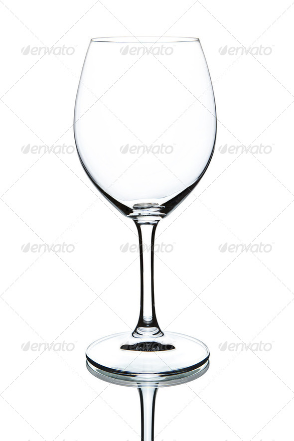 empty wineglass isolated - Stock Photo - Images
