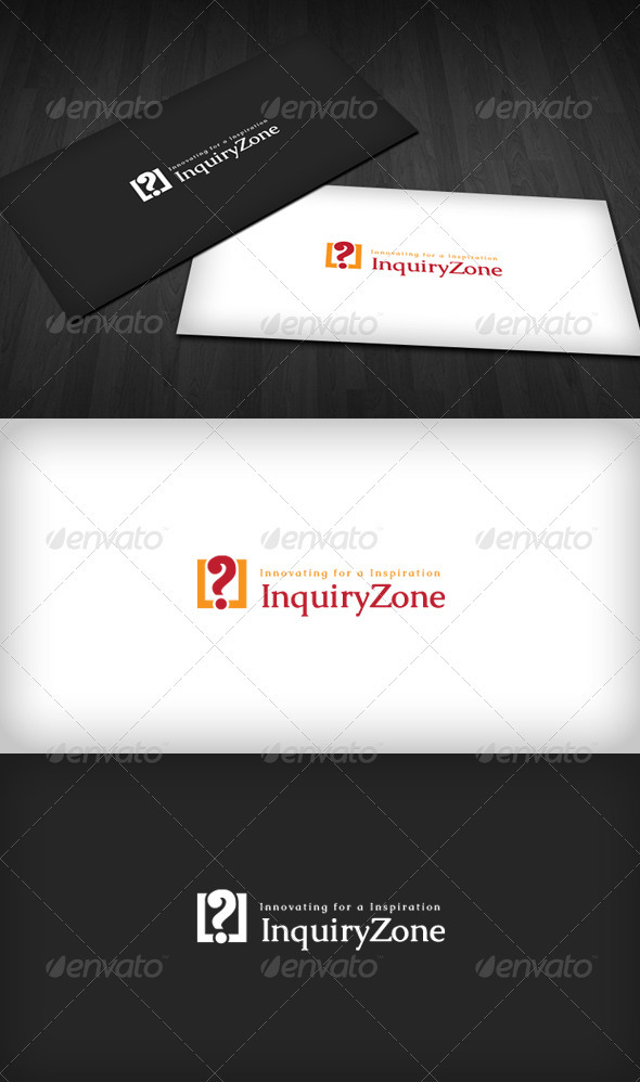 Inquiry Zone Logo - Vector Abstract