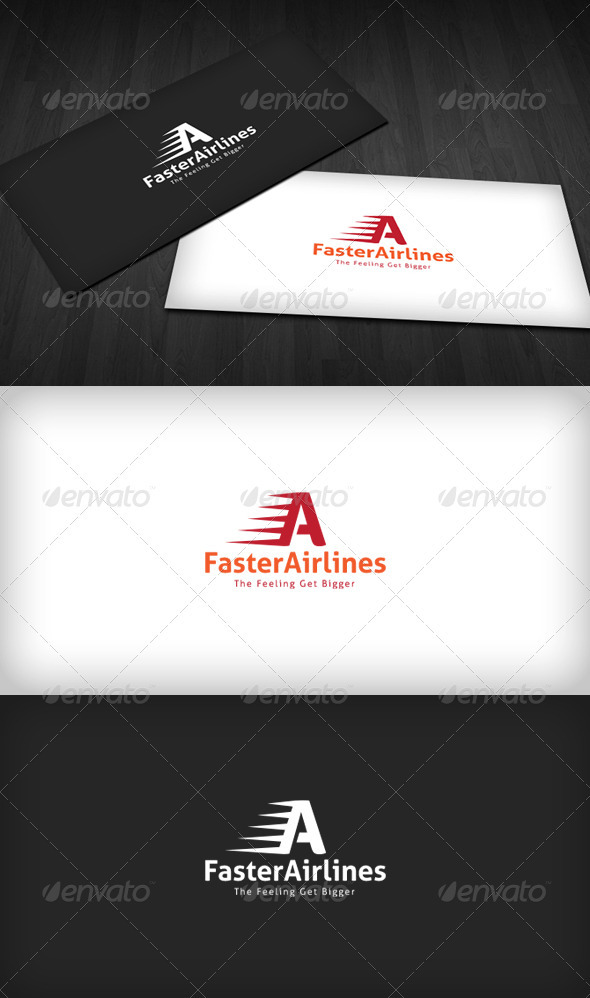 Faster Airlines Logo - Letters Logo Templates