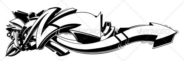Black and white graffiti background - Backgrounds Decorative
