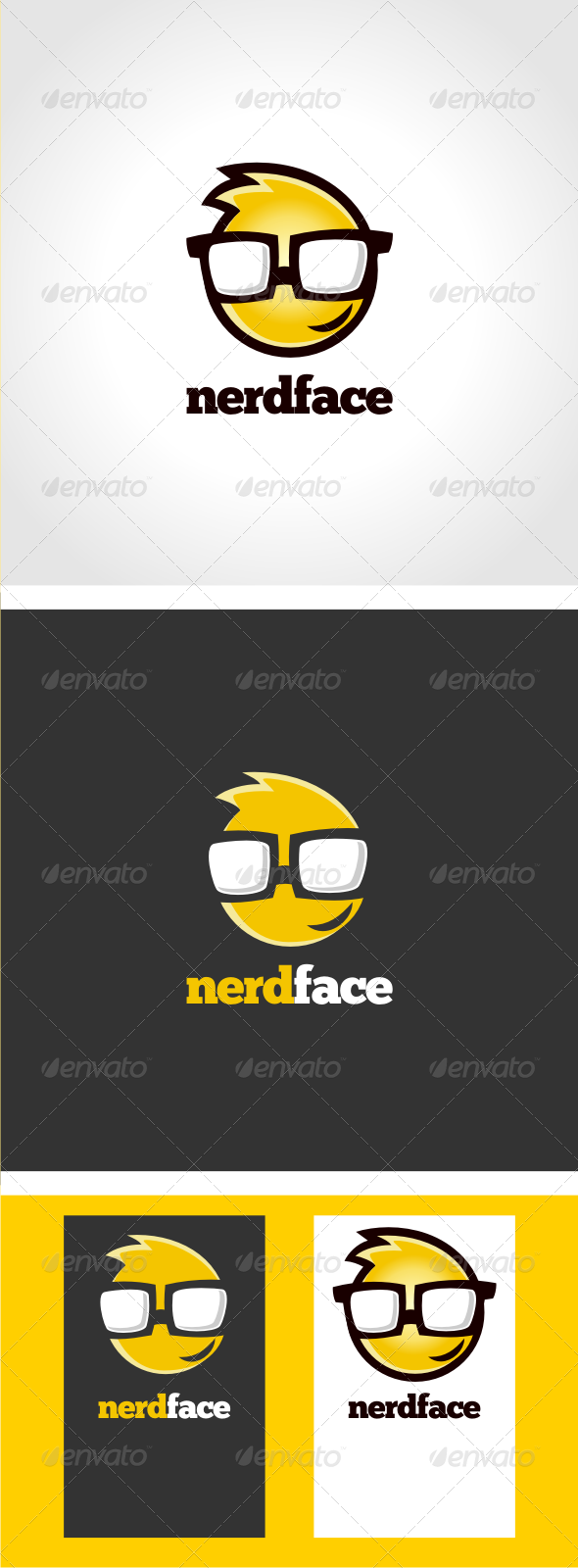 NerdFace Logo Template - Humans Logo Templates