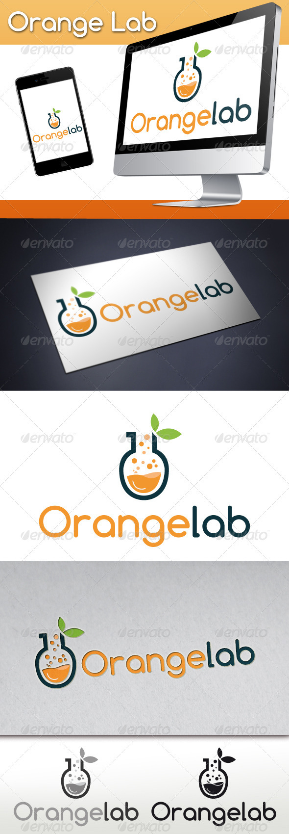 Orange Lab Studio Logo - Nature Logo Templates